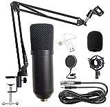 WLGQ Kondensatormikrofon Kit BM-700 Mikrofon Gaming-Mikrofon einstellen, PC-Mikrofon auf 3,5 mm mit Einstellbarer Mikrofonaufhängung Scherenarm, Stoßdämpferhalterung, für StudioaufnahmenB
