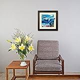 TripStan 3D-Wandkunst, Lentikular-Bilder, Delfin-Kollektion, holografische Flip-Bilder, 40,6 x 40,6 cm, Tierposter, Malerei, ohne Rahmen, Delfin-Baby und Mutter