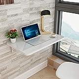 An der Wand montierter Klapptisch, Kleiner platzsparender schwimmender Schreibtisch für das Arbeitszimmer Badezimmer oder Balkon Klapptisch, einfach und klappbar