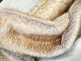 Weiß Gefärbte Gelbe Spitze Künstliche Weiche Stoff Langer Haufen 35mm Für DIY Handwerks Nähen Requisiten Kostüme Pelzkragen Spielzeug Fursanzug Cosplay Sitz Dekorationen 20x170cm
