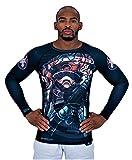 Ronin Shogun Heishi BJJ Rash Guards für Herren - Ultra Stretch Compression Base Layer Shirt für Training, Herren, schwarz, X-Large