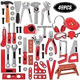 feilai Lab & Scientific Supplies Kinder-Spielzeug-Werkzeugkasten, Reparatur-Set, Lernspielzeug, Geschenk, 49-teilig