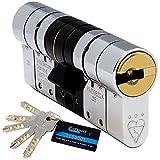 Schlosser Technik 3-Sterne-Hochsicherheits-Euro-Zylinder – TS007 – Sold Secure Diamond Secured by Design Police Approved (35/55)