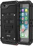 seacosmo iPhone 5S wasserdichte Hülle, Militärstandard Schutzhülle mit Eingebautem Displayschutz Haltbarkeit stoßfest Handyhülle für iPhone 5 SE, Schw