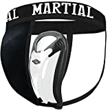 Martial Tiefschutz mit 2 Cup-Größen für perfekten Sitz! Genital-Schutz mit hoher Bewegungsfreiheit für Kampfsport! Leisten-Schutz mit Bester Passform und elastischem Hüftband inkl. Tragebeutel!