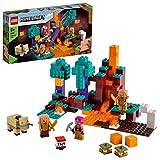 LEGO 21168 Mincecraft Der Wirrwald Nether Spielset mit Huntress, Hoglin und 2 Piglins, Spielzeug ab 8 Jahren