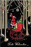 bsb Grußkarte Weihnachtskarte'Frohe Weihnachten' mit schmückendem Weihnachtsmann