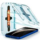 Spigen Glas.tR EZ Fit Panzerglas kompatibel mit iPhone 12, iPhone 12 Pro, 2 Stück, Kratzfest, 9H Härte Schutzfolie