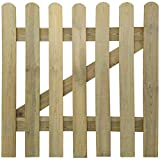 Festnight Holzgartentor Lattenzauntor aus Holz Gartentor 100 x 100 cm Zauntür Hoftor für Garten Terrasse Hof