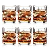 Whisky Gläser, Altmodisches Whisky Gläser 6er-Set Whiskyglas, Whiskygeschenke für Männer Scotch Lovers, Stilglaswaren für Bourbon, Rumgläser, Bar Whiskyglasbecher Geschenke Für Männer