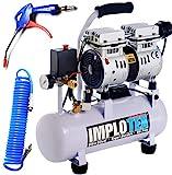 480W Silent Flüsterkompressor Druckluftkompressor 48dB leise ölfrei Kompressor inkl. Ausblaspistole und Druckluftschlauch IMPLOTEX