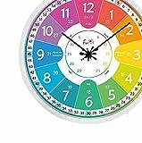 Funtini XXL Kinderuhr-Set ◆ lautlos ◆ Ø50cm - Kinderzimmer, Schule, Kita   Wanduhr mit Lernvorlagen & Bastelanleitung zum Uhr lesen Lernen   groß