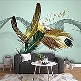 HGFHGD Selbstklebende 3D-Fototapete Abstrakte Federwandkunst-Wandtapete Hauptdekoration Wohnzimmer-Sofa-TV-Hintergrund-Wandaufkleber