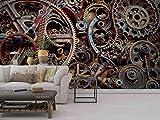 IWJAI rasch tapeten Kreativität, Kunst, Maschinen, Muster Vliestapete Vlies moderne Mustertapete Tapete Wallpaper Tapezier Fototapete selbstklebend Livingwalls Fototapeten