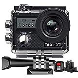 AKASO Action Camera/ 4K 20MP Action Kamera/Unterwasserkamera mit Bildstabilisierung Zoom Zeitraffer,30m Camcorder mit Fernbedienung 2 Akkus und Zubehö