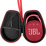 Khanka Hartschale Travel Schutzhülle für JBL Clip 2/3Wasserdicht Tragbarer Bluetooth-Lautsprecher rot