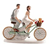 Dekora - Radelndes Brautpaar Figur für Hochzeitstorte