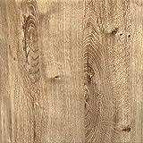 Rohr-Trading.SURFACES [18,83€/m²] Klebefolie für Möbel Küche Tür & Deko I Selbstklebende Folie inkl. Filzrakel zur Verarbeitung I 3D Fototapete in rustikaler Eiche Holzoptik [200 x 45cm]