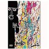pujiaoshang Basqquiat Young DRO Feat London Jae Musik Cover Art Poster Leinwand Malerei Home Decor HRT Poster Druck auf Leinwand-50x70cm No Frame
