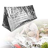 Outdoor Survival Blanket 5PCS Camping Rettungsdecke Outdoor Erste-Hilfe-Decke Faltbar, Geeignet für extremes Wetter(Silver)