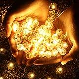 OSALADI LED Runde Ball Ballon Licht, Superbright Mini Ballon Licht, Ball Lichter für Papierlaterne Ballon Party Halloween Hochzeit (Warm Wight, 100 stücke)