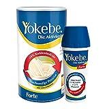 Yokebe Forte Diät Shake, Starterpaket inklusive Shaker, Mahlzeitersatz, laktosefrei, kalorienarm, mit hochwertigen Proteinen und Bienenhonig, für langanhaltende Sättigung, 1er Pack (500g)