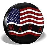 Hokdny Reifenabdeckung Amerikanische Flagge MAGA Reserverad Radabdeckung wasserdichte Staubdichte Universal-Reifenabdeckungen 14/15/16/17 Inch