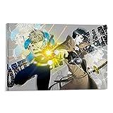 QWDA Anime One Punch Man Zombieman Waffen Poster Dekorative Malerei Leinwand Wandkunst Wohnzimmer Poster Schlafzimmer Gemälde 60 x 90 cm