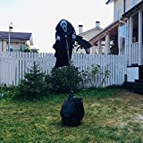 Ghostface Scarecrow Halloween Ghostface Vogelscheuche Dekoration Unique Scream Folge der Brise Ghostface Horror Kreative Scary Garten Statue Figuren Ornament Freien Skulptur Deko 270x40cm