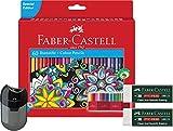 Faber-Castell 111260 - Buntstift Castle, 60er Kartonetui Malset inklusive Doppelspitzer und 2 PVC-freie Radierer