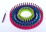 Die besten Verkäufe - Strickring Strick Rahmen rund zum Stricken 6 teilig Durchmesser 29 cm, 24 cm, 19 cm, 14 cm