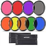 Neewer komplett Vollfarb-Objektiv-Filter-Set für Kamera-Objektiv mit 58 mm Filtergewinde Inkl. Rot/orange/blau/gelb/grün/braun/lila/rosa/grau ND Filter/Filter H
