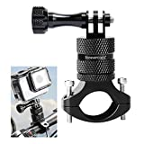 Forevercam Bicycle Mount Action Camera Handlebar, Aluminium Alloy Mountain Bike Holder 360 Degree Rotation Rack Cradle Compatible All GoPro Models/Action Cameras Mountain