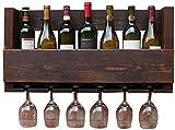 JOMOSIN JJ0226 Wandmontierter Holzwein-Wein-Wein-Weinhalter, europäischer Retro-Weinglas-Halter-Ständer und Regal Hängen für Küche/Bar Funktional