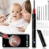 Ohrenschmalz Entferner Otoskop, ZumYu WiFi Wasserdicht Ohrreiniger Otoskop 3.5mm Linse HD1080P Mit LED-Lichter Ohrenschmalz Entferner Tool Endoskop Baby Erwachsene Für iPhone/iPad, iOS, Android