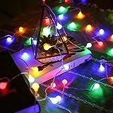 Märchengirlande LED Ball String Licht wasserdicht im Freien LED Glühbirne Licht Party / Weihnachten / Garten String Licht Batterie Multicolor 10m100 LED