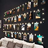 10M 100LED Fotoclips Lichterkette, Hepside Lichterkette mit 60 Klammern für Fotos Wand Batteriebetriebene Lichterketten DIY bilder für Zimmer, Wohnzimmer Weihnachten Hochzeiten Warmweiß, 20 Nägeln