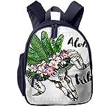 Kinderrucksack Kleinkind Jungen Mädchen Kindergartentasche Boho Chick Ziegenschädel Backpack Schultasche Rucksack