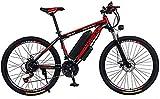 Elektrofahrrad, Erwachsene 26 Zoll Electric Mountain Bike, 36V 13.6AH Lithium-Batterie-elektrisches Fahrrad, mit Auto-Verschluss/Fender/Span Beam-Beutel/Taschenlampe/Inflator,Fahrrad