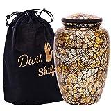 Divit Shilp Einäscherungsurne für menschliche Asche mit Samt Beutel, für Erwachsene bis 100 kg. (GL Mosaic, Adult, Adult)