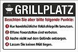 WERBEPUNKT. Schild Grillplatz BBQ Barbecue Grillen Regeln Hinweis 3 mm Alu-Verbund 600 x 400 mm