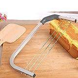 Tortenschneider Kuchen Handwerk, Verstellbar Kuchenschneider Tortenbodenschneider Pâtisserie Mit Höhenverstellbarem Schneidedraht, Edelstahl, Gummifüße