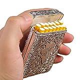 BNVN Zigarettenetui Box Silber Metall Hält 14 Zigaretten Normalgröße Zigarette Für Männer Rauchen Schönes Geschenk