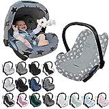 Original DOOKY BabyFit ** UNIVERSAL Schonbezug für 3 und 5 Punkt Gurt System ** Babyschale, Autositz wie z.B. für Maxi Cosi, Cybex etc. (Origami Grey)