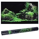 3D-Effekt Meeresboden Wasser Gras Poster Selbstklebende PVC Aquarium Aquarium Hintergrund Wandbild Dekorative Reptilien Terrarium Tapete Wohnzimmer Sofa TV Hintergrund Foto Wallpaper(122 * 46cm)