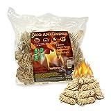 WOLOSZYN Bio Kaminanzünder - 1 kg Öko-Holzwolle - Anzünder - Feueranzünder für Grill, Kamin und Feuerschalen