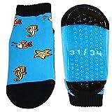 Strandsocken rutschfest Schwimmsocken Kinder Beach Strand Wattwandersocken Fische Wassersocken, Farben alle:blau, Größe:27/30 bzw. 110/116 (5-6 Jahre)
