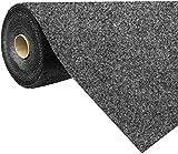 havatex Rasenteppich Kunstrasen mit Noppen 1.550 g/m² - Rot Blau Grau Braun Beige oder Anthrazit | Meterware | wasserdurchlässig | Balkon Terrasse Camping, Farbe:Anthrazit, Größe:400 x 150 cm