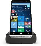 HP Elite x3 (Y1M46EA) Smartphone (15,14 cm (5,96 Zoll) Amoled WQHD Touchdisplay, 64 GB, Dual Sim, Windows 10 Mobile) inkl. Headset und Docking Station, schwarz / silber