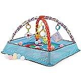 Baby Spielmatte Mit 5 Hängenden Spielzeugen Und 18 Ocean Ball, Großer Baby Aktivitäts Fitness Spieldecke Mit Spielbogen, Geschenke Für Neugeborene Und Kleinkinder Im Alter Von 3 Bis 12 Monaten